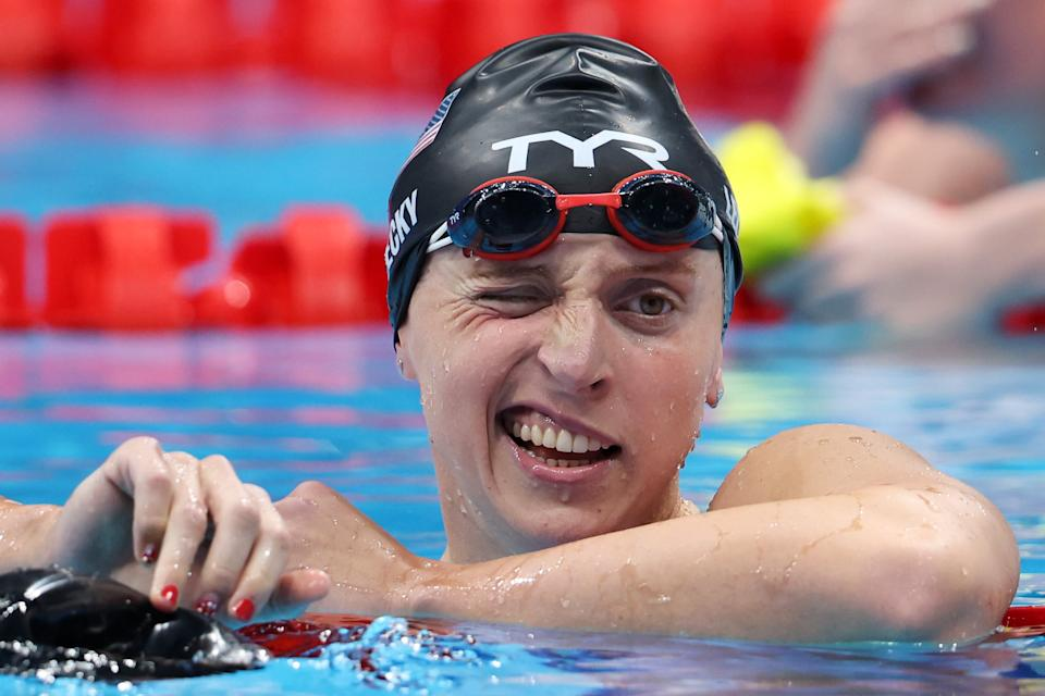 How did Katie Ledecky, one of the biggest competitors and most successful athletes you'll meet, feel about losing the first individual race of her Olympics career? Surprinsgly OK. (Photo by Tom Pennington/Getty Images)