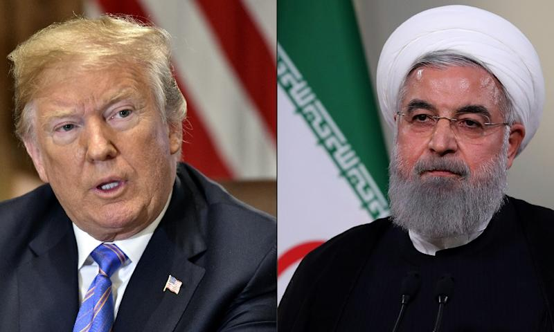 US President Donald Trump and his Iranian counterpart Hassan Rouhani faced off at the UN in September (AFP Photo/Nicholas Kamm, HO)