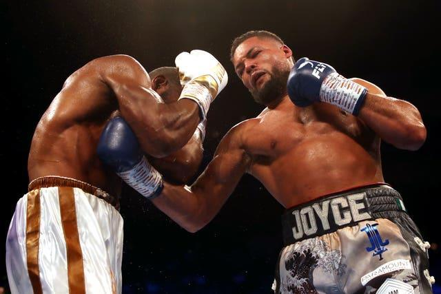 Joyce, right, has won all 12 of his professional contests (Nick Potts/PA)