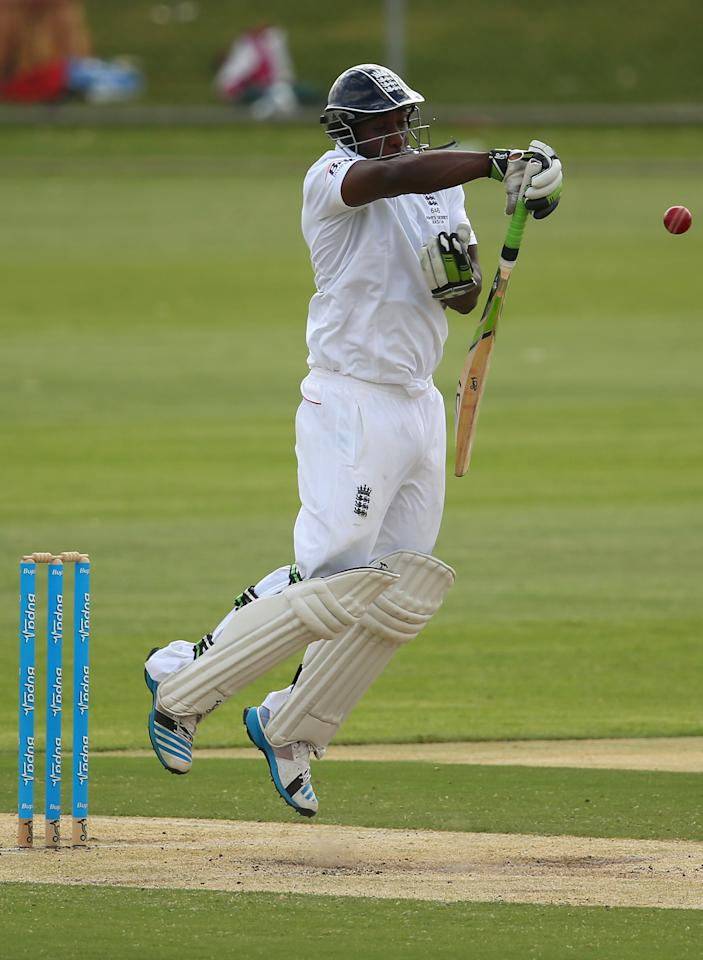 ALICE SPRINGS, AUSTRALIA - NOVEMBER 30:  Michael Carberry of England bats during day two of the tour match between the Chairman's XI and England at Traeger Park Oval on November 30, 2013 in Alice Springs, Australia.  (Photo by Mark Kolbe/Getty Images)