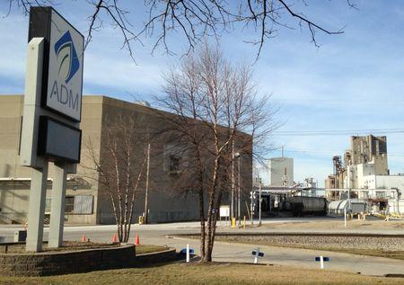 The world's largest corn mill of global grain company Archer Daniels Midland is pictured in Decatur