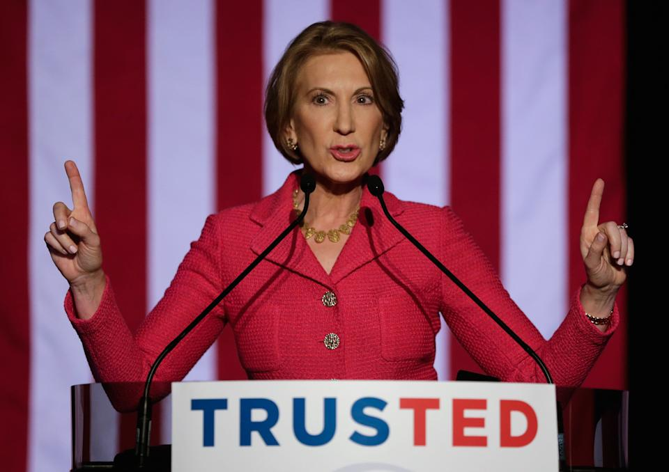 Sen. Ted Cruz in 2016 named Carly Fiorina,pictured, as his vice presidential candidate if he won the GOP nomination. (Photo: Bob Levey via Getty Images)