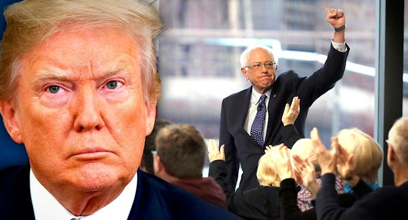 President Trump and Bernie Sanders (Photo illustration: Yahoo News: photos: AP, Matt Rourke/AP)