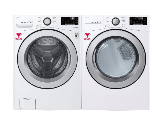 LG High Efficiency Front Load Washer and Electric Dryer (Photo via Best Buy Canada)