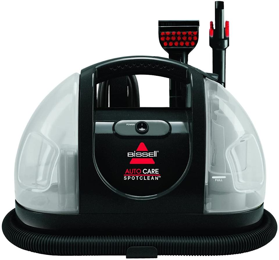 The Bissell 1400P Auto Care SpotClean Portable Deep Cleaner retails for $160. Image via Amazon.