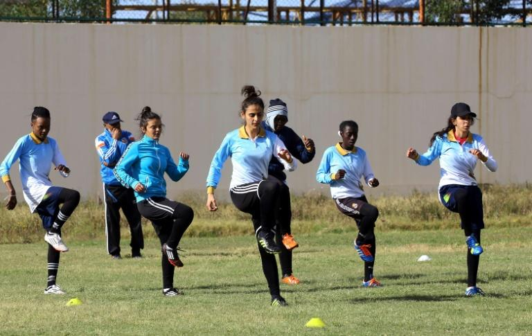 "Libya's women footballers often face comments such as ""Go cover yourself!"", one of its players says"