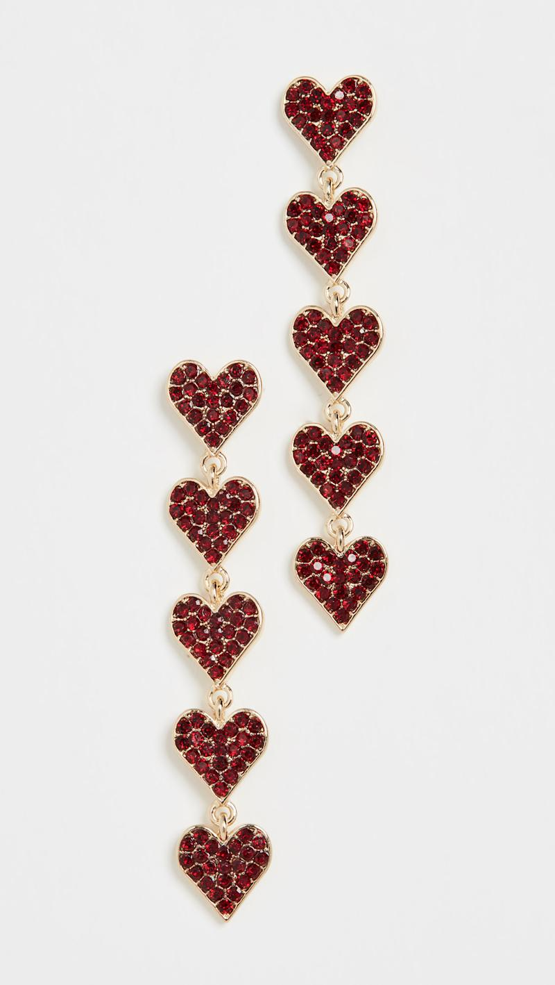 Stella + Ruby Crystal Heart Earrings