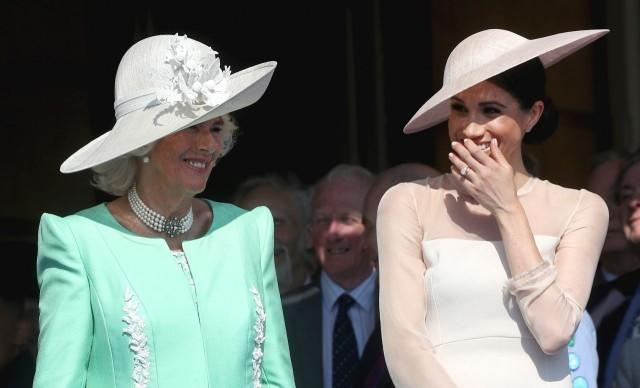 Camilla and Meghan Markle at Buckingham Palace