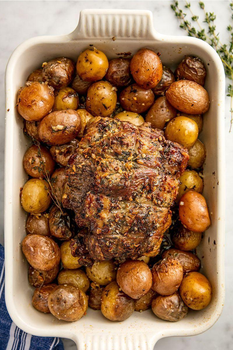 """<p>Roasting lamb is just as easy, if not easier, than <a href=""""https://www.delish.com/uk/cooking/recipes/a28926109/classic-roast-chicken-recipe/"""" rel=""""nofollow noopener"""" target=""""_blank"""" data-ylk=""""slk:roasting a chicken"""" class=""""link rapid-noclick-resp"""">roasting a chicken</a>. Seriously, all you need to do is rub a lamb shoulder with a mixture of fresh herbs, garlic, and olive oil and throw it in the oven for an hour or so. Bonus points if you roast the meat on top of a bed of potatoes. (And why wouldn't you?)</p><p>Get the <a href=""""https://www.delish.com/uk/cooking/recipes/a28934142/best-roast-lamb-recipe/"""" rel=""""nofollow noopener"""" target=""""_blank"""" data-ylk=""""slk:Roast Lamb"""" class=""""link rapid-noclick-resp"""">Roast Lamb</a> recipe.</p>"""