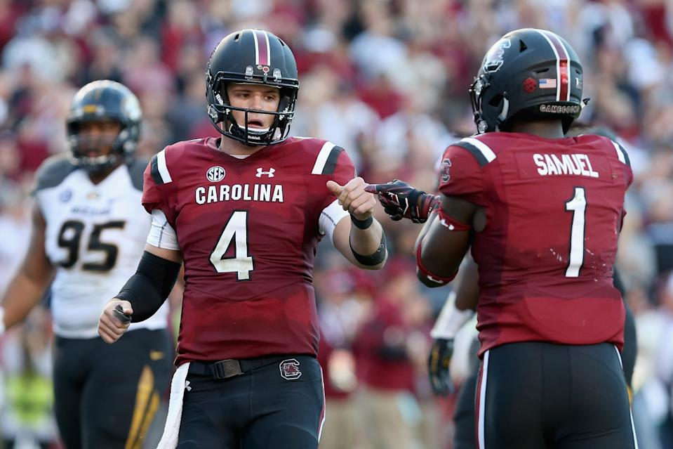 Can South Carolina, led by Jake Bentley and Deebo Samuel, challenge Georgia in the SEC East? (Photo by Tyler Lecka/Getty Images)