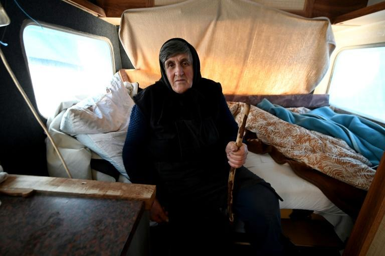 Bara Vrbanac, 75, is among hundreds of families squeezing into vans, containers and other shelters after their homes were made unsafe by an earthquake in central Croatia last month