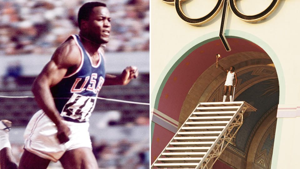 Rafer Johnson, pictured here during his Olympic career.