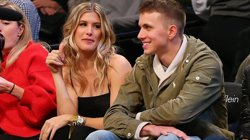 Eugenie Bouchard and John Goehrke, pictured here on a date at an NBA game in 2017.