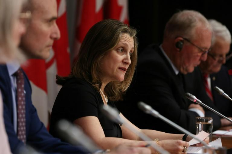 "Finance Minister Chrystia Freeland unveiled a budget that outlines big spending to ""punch way out of Covid recession"""