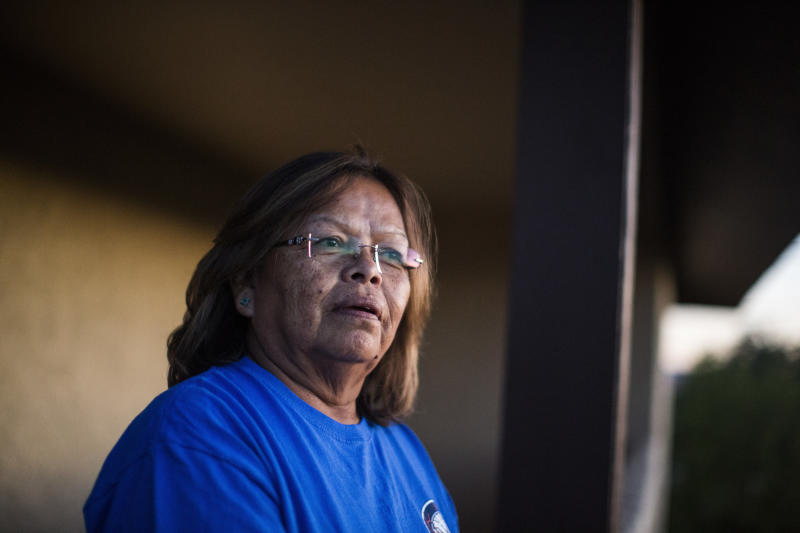 Marie Justice has worked at the two Peabody Coal mines in the northeastern part of Arizona for 29 years. She also represents the workers' union at the mine. (Nick Oza for HuffPost)