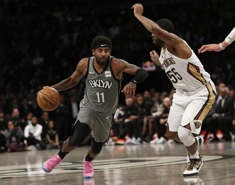 Kyrie Irving is averaging 32 points per game over his first seven contests with the Brooklyn Nets. (Nicole Sweet-USA TODAY Sports)