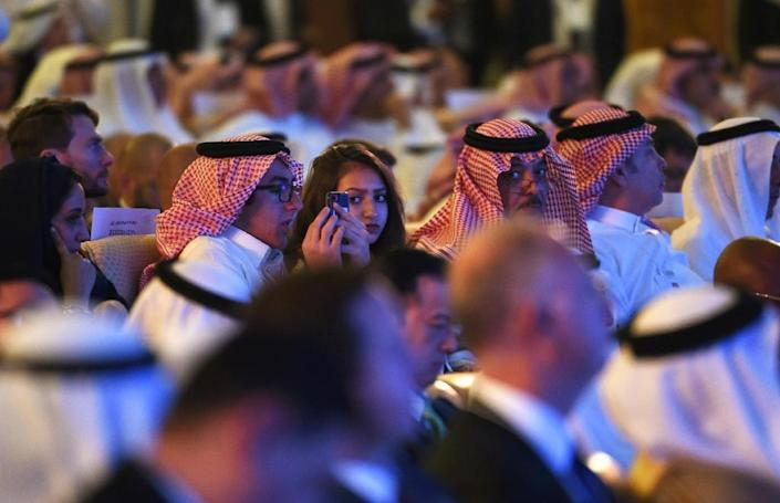 Foreign and Saudi investors attended the Future Investment Initiative conference in Riyadh, on October 24, 2017 (AFP Photo/FAYEZ NURELDINE)