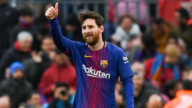 A day after Cristiano Ronaldo passed 300 LaLiga goals, Lionel Messi netted for the 600th time in his career for Barcelona v Atletico Madrid.