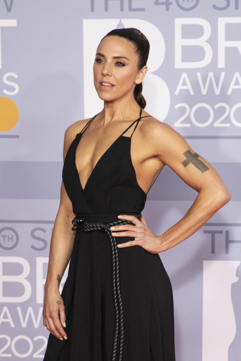 Mel C poses for photographers upon arrival at Brit Awards 2020 in London, Tuesday, Feb. 18, 2020. (Photo by Vianney Le Caer/Invision/AP)