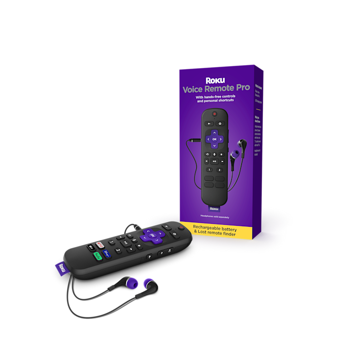 The Roku Voice Remote Pro ($29.99) is rechargeable battery and offers hands-free voice control.