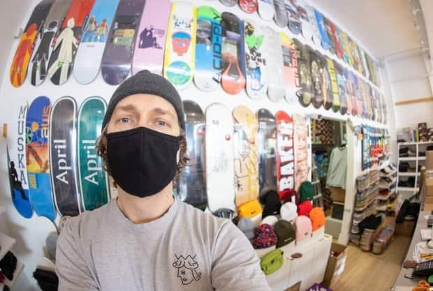 The accessibility of skateboarding has contributed to its popularity in Regina, says Tiki Shop owner Noel Wendt. (Submitted by Noel Wendt - image credit)