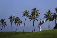 Billy Horschel hits from the 11th tee during the second round of the Sony Open golf tournament Friday, Jan. 15, 2021, at Waialae Country Club in Honolulu. (AP Photo/Jamm Aquino)