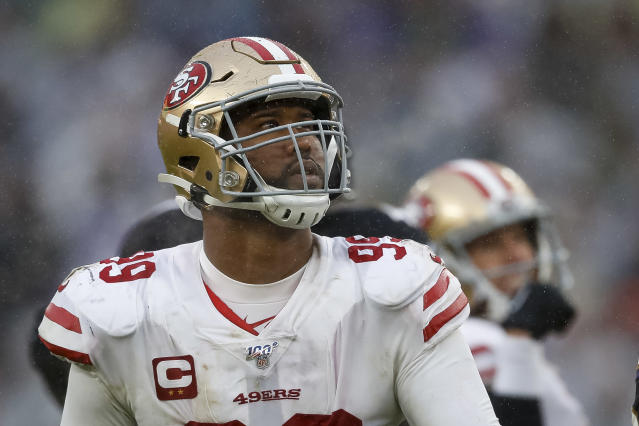The 49ers are trading DeForest Buckner to the Colts for a first-round pick. (Photo by Scott Taetsch/Getty Images)