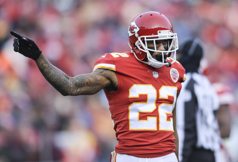 Kansas City Chiefs cornerback Marcus Peters is reportedly heading to the Rams in a trade. (AP)