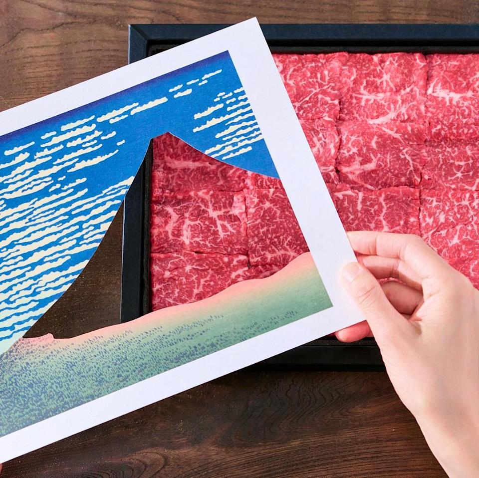 Gift company Hitotema is using premium wagyu beef to recreate famous works of traditional Japanese art Ukiyo-e. — Picture via Facebook/ Art Beef Gallery