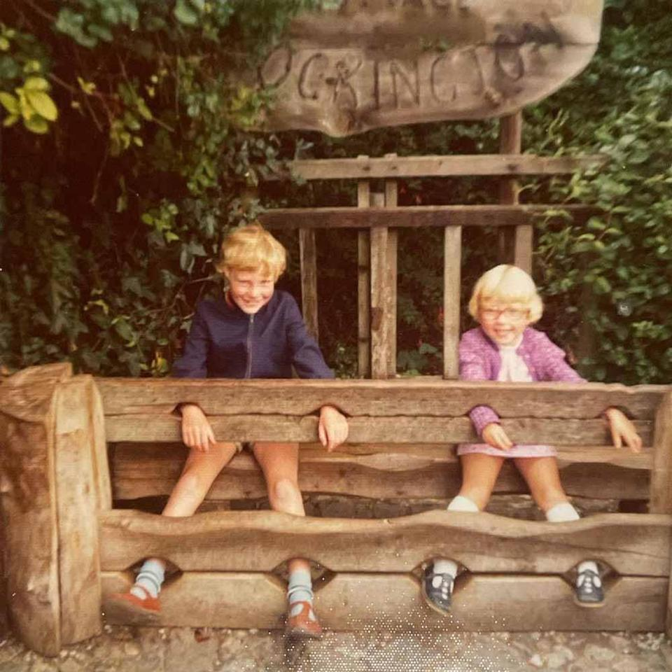 A childhood photo of Michael, left, aged six, and sister Rachel McGrath, aged three. PA REAL LIFE
