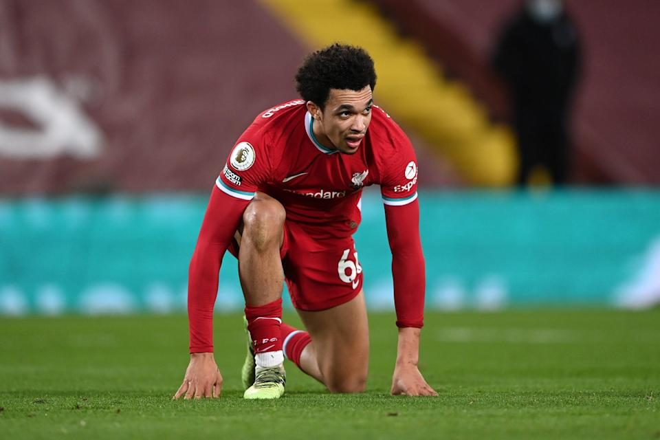 <p>Trent Alexander-Arnold has been left out of England's squad</p> (Getty Images)
