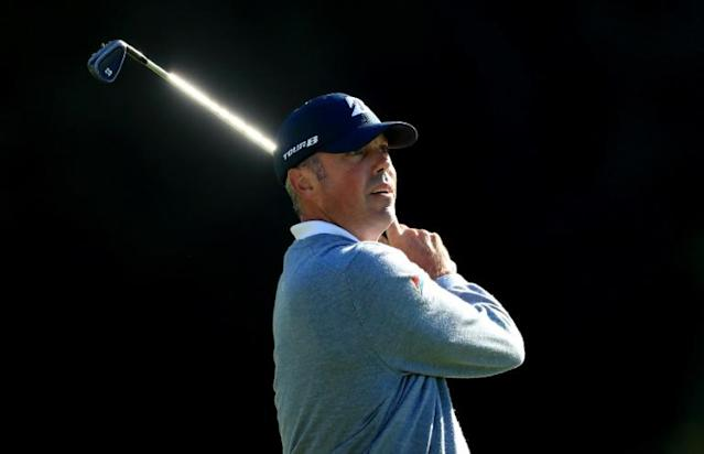 American Matt Kuchar on the way to a seven-under 64 and the first-round lead in the US PGA Tour Genesis Invitational at Riviera Country Club (AFP Photo/DAVID CANNON)