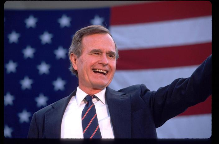 George H.W. Bush, during the 1988 presidential campaign.