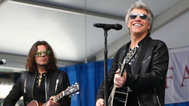 PHOTO: Jon Bon Jovi surprised 2,600 students at Fairleigh Dickinson University's commencement ceremony with a performance of his song, 'Reunion' at MetLife Stadium in New Jersey, May 16, 2017. (Lou Rocco/ABC)