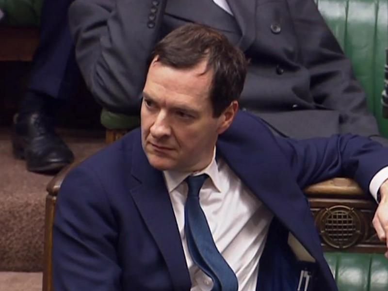 George Osborne in the House of Commons: Getty