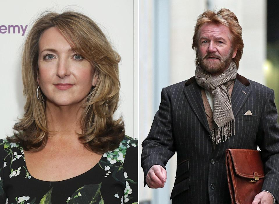 Victoria Derbyshire and Noel Edmonds come to blows. (PA)