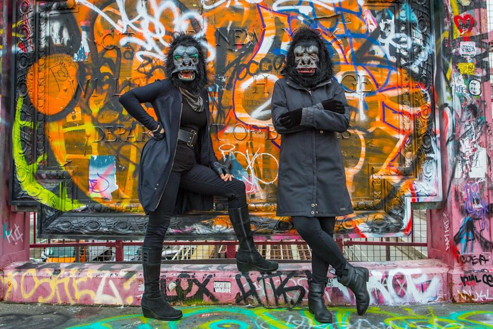 Guerrilla Girls. Which ones, it's hard to say