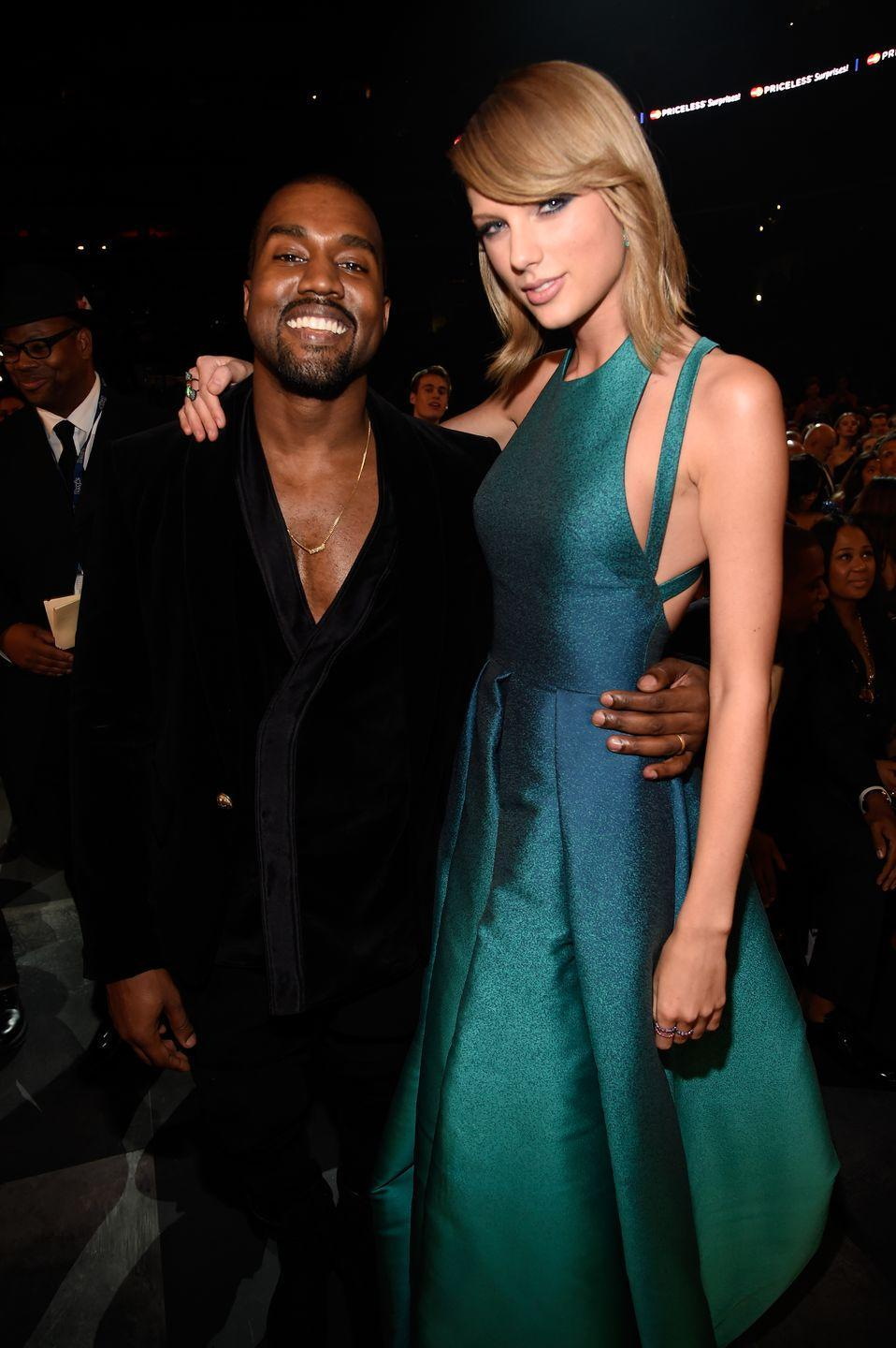 """<p>... until old wounds opened back up again in 2016, when Kanye released a song called """"Famous,"""" in which he directed some crude lyrics about Taylor. When Taylor publicly denounced the song, Kanye's wife Kim Kardashian released secret recordings of a private phone call in which the pop star seemingly gave approval of the lyrics, which led to intense internet backlash against Taylor. Most recently, though, a <a href=""""https://www.elle.com/culture/celebrities/a31845976/taylor-swift-full-famous-call-kanye-west-leaked/"""" rel=""""nofollow noopener"""" target=""""_blank"""" data-ylk=""""slk:leaked version of the full phone call"""" class=""""link rapid-noclick-resp"""">leaked version of the full phone call</a> seems to support Taylor's version of the story ... and the feud still doesn't seem to have any peaceful end in sight. </p>"""