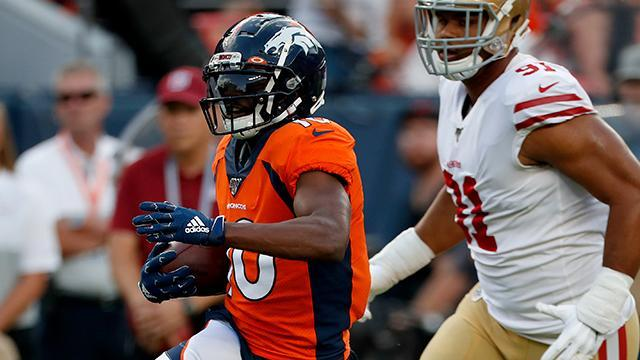 "NFL Network s Terrell Davis says Denver Broncos wide receiver Emmanuel Sanders ""confirmed"" that he was back to full strength Monday night."