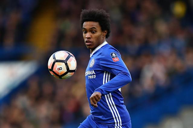 Starting team | Willian takes Eden Hazard's spot on the left flank: Getty Images
