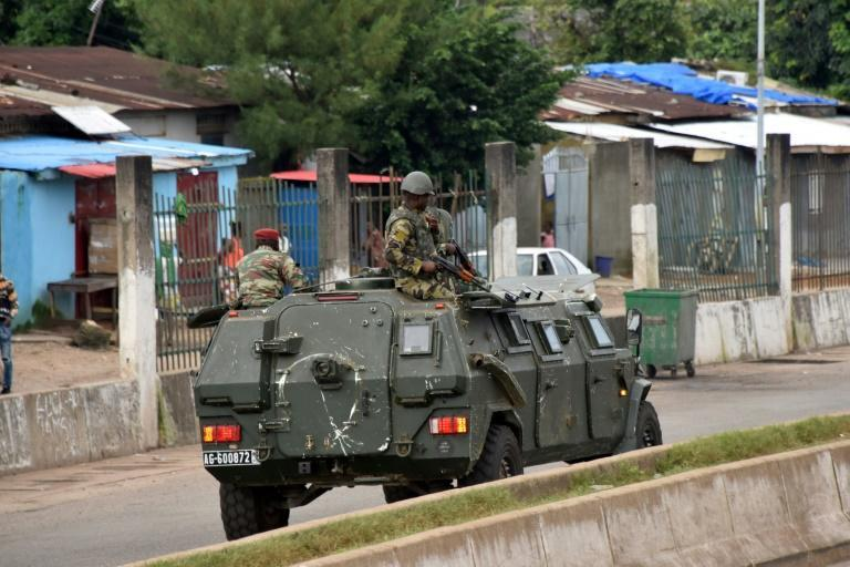 Troops were patrolling the streets of Conakry Sunday following the coup (AFP/CELLOU BINANI)