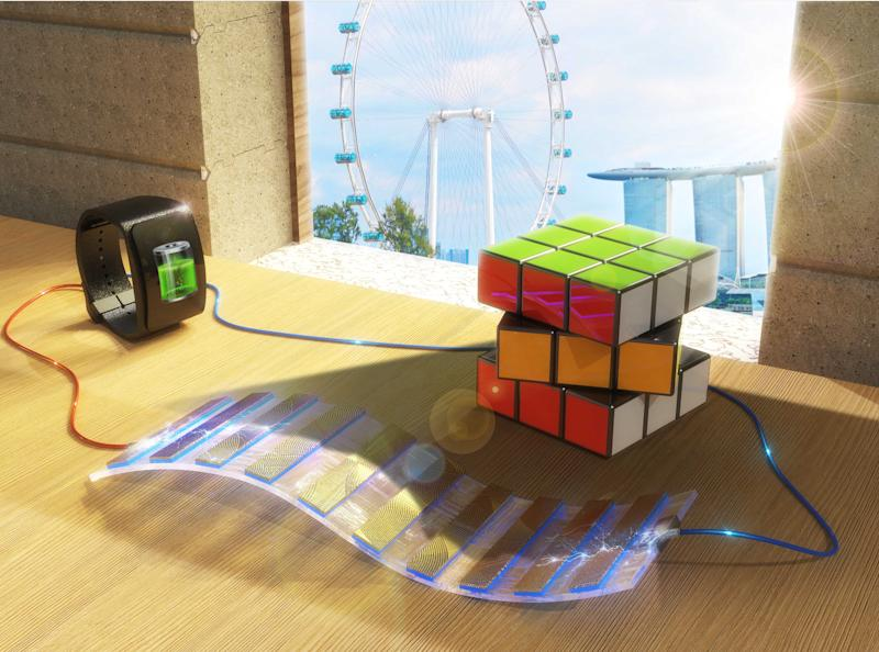 A National University of Singapore research team has created a device called the shadow-effect energy generator. (PHOTO: Royal Society of Chemistry)
