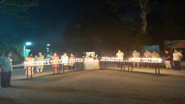 Oil India staff observed two minute silence and lit candles to pay homage to the company's firefighters who laid their lives in the line of duty at Baghjan on 9 June 2020. Image courtesy @OilIndiaLimited