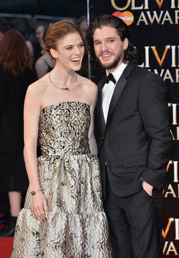 "<p><b>Rose Leslie and Kit Harington</b></p><p>Sunday night was a big night for ""Game of Thrones"" fans. While their on screen love affair came to an abrupt end in season 4, actors Rose Leslie and Kit Harington showed off their real life romance on the red carpet of the Olivier Awards. <i>(Anthony Harvey/Getty Images)</i><br></p>"