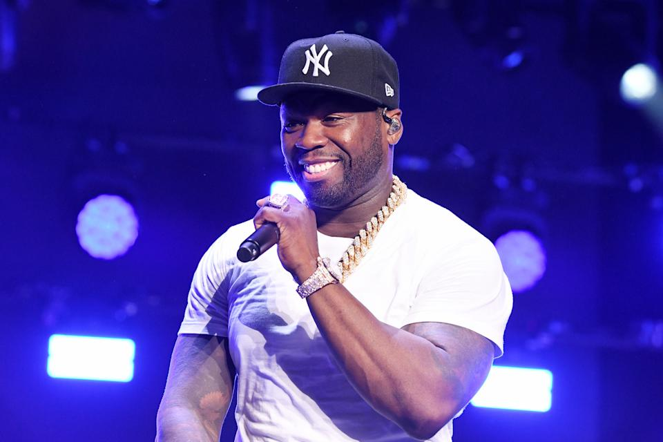 """Curtis """"50 Cent"""" Jackson performs onstage at STARZ Madison Square Garden """"Power"""" Season 6 Red Carpet Premiere. (Photo by Michael Kovac/Getty Images for STARZ)"""