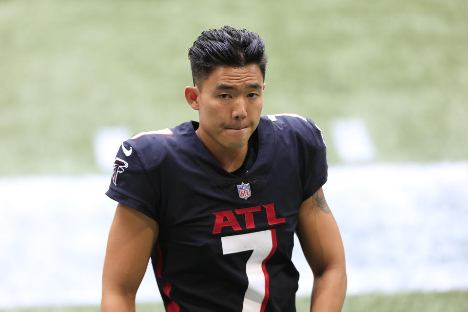 Younghoe Koo in No. 7 Atlanta jersey.