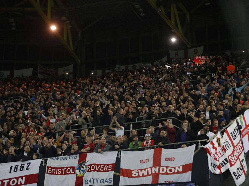 England fans have been criticised for chanting a disgraceful song in reference to the First and Second World Wars (Reuters)
