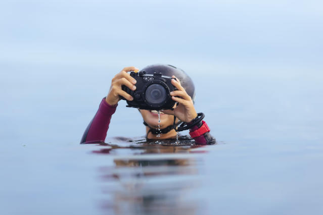 A student in Japan has been reunited with a camera she lost in the ocean three years ago. (Photo: Getty Images)