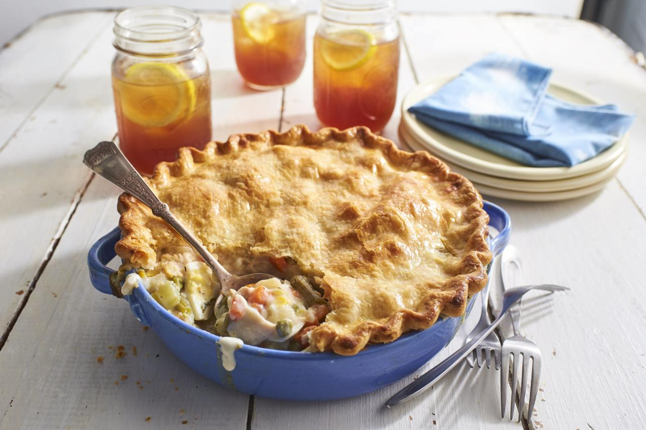 "<p><strong>Recipe: <a href=""http://www.southernliving.com/recipes/old-fashioned-chicken-pot-pie-recipe"">Old-Fashioned Chicken Pot Pie</a> </strong></p> <p> Just like Mama used to make. This classic recipe is a weeknight dinner wonder.</p>"