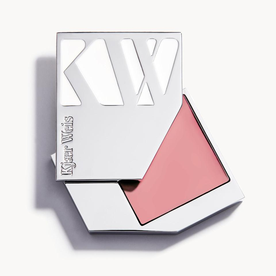"""<p>Kjaer Weis's Cream Blush, which is a <a href=""""https://www.allure.com/gallery/best-of-beauty-2018-winners?mbid=synd_yahoo_rss"""">2018 Best of Beauty winner</a> for best luxury cream blush, is a sight to behold — even before you slide open the compact. The weighty silver case is like a piece of sculpture; the dewy tint inside glides like a dream on lips, cheeks, and lids due to its nourishing ingredients like jojoba seed oil and beeswax.</p> <p><strong>$56</strong> (<a href=""""https://shop-links.co/1650014763485304047"""" rel=""""nofollow"""">Shop Now</a>)</p>"""